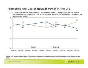 Short-Term Impacts of Disasters on Public Opinion: The Nuclear Issue